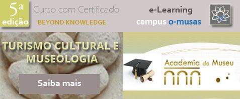 Banner divulgação Turismo Cultural e Museologia 5ª edição