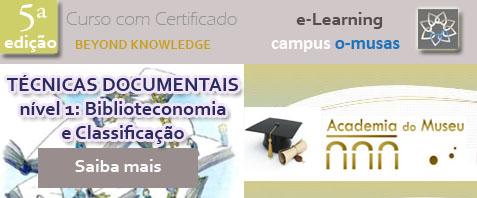 Divulgação Curso de Técnicas Documentais nível 1: Biblioteconomia e Classificação